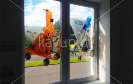 оклейка витрин строительного магазина