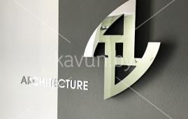 зеркальные буквы для архитектурного ателье